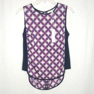 Trina Turk Small Silk NEW Sleeveless Purple Top